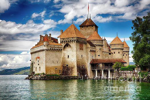 Castle on Lake Geneva II by George Oze