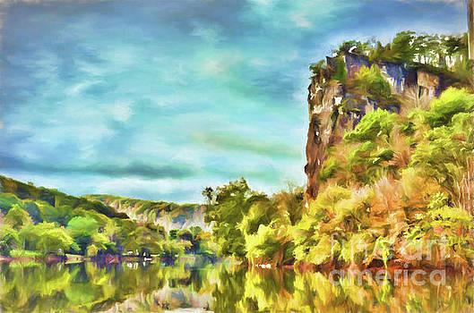 Castle Rock Autumn Pembroke Virginia Pastel by Kerri Farley