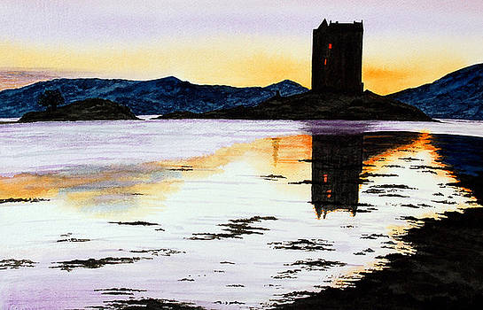 Castle Stalker at Sunset by Fay Reid