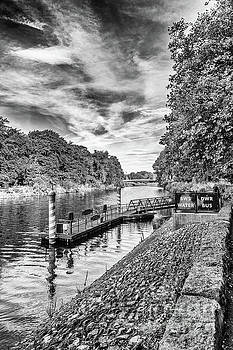 Castle Water Bus Stop 1 Mono by Steve Purnell