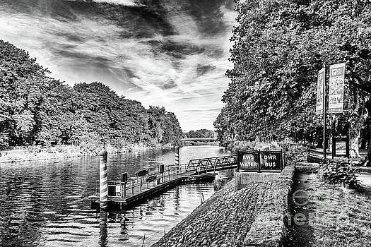 Castle Water Bus Stop 2 Mono by Steve Purnell