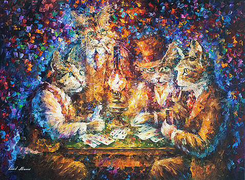 Cat Game by Leonid Afremov