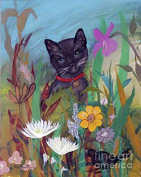 Cat in the Garden by Robin Maria Pedrero by Robin Maria Pedrero