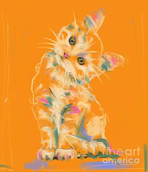 Cat Kitten Lou by Go Van Kampen