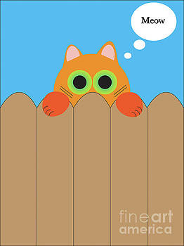 Cat On The Fence  by Naomi Burgess