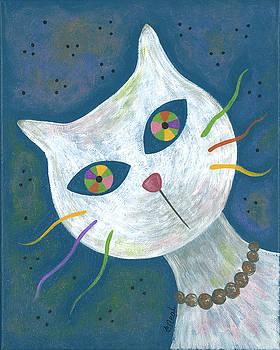 Cat With Kaleidoscope Eyes by Carol Neal