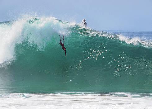 Catch Me.   Body Surfing the Wedge by Joe Schofield