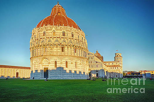 Cathedral and Leaning Tower of Pisa by George Oze
