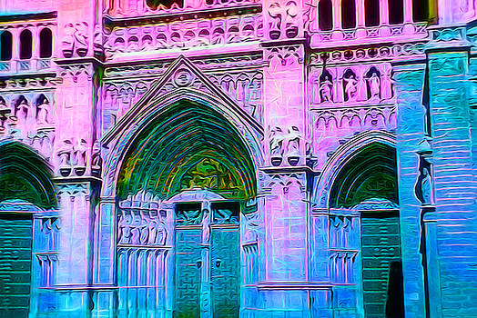 Cindy Boyd - Cathedral in Pink and Blue