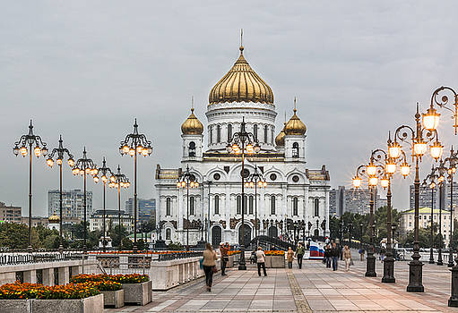 Cathedral of Christ The Saviour Moscow Russia by Ayhan Altun