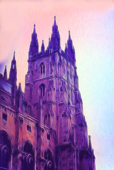Cindy Boyd - Cathedral Tower in purple 1971