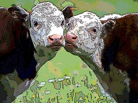 Cattle Grazing by Charles Shoup