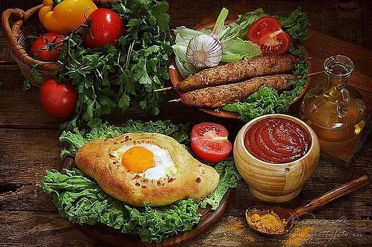 Caucasian kitchen by Marina Volodko