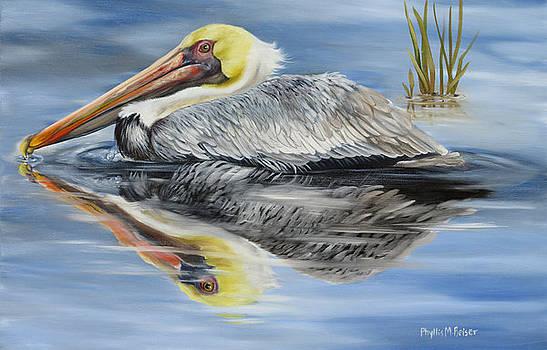 Cedar Point Pelican 2 by Phyllis Beiser