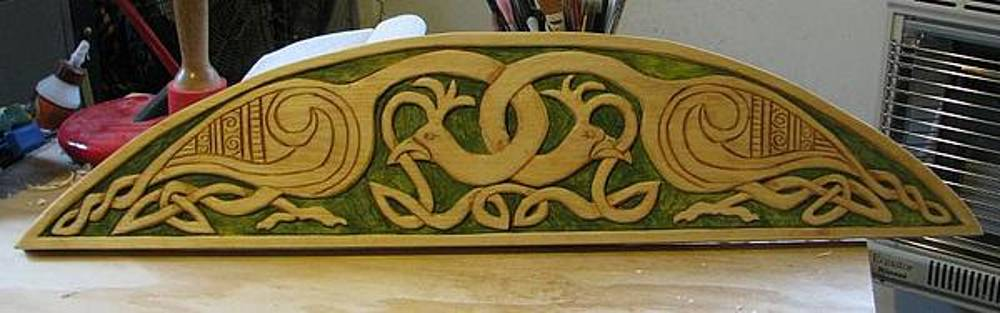 Celtic birds door crown by Christina White