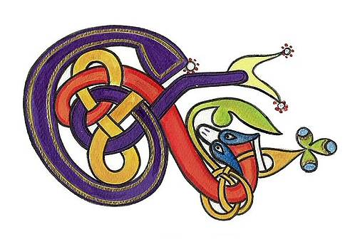 Celtic Initial E by Frances Gillotti