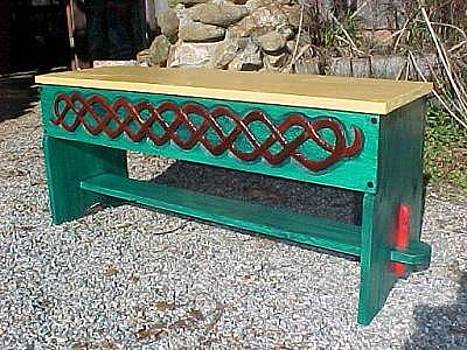 Celtic Knotwork Bench by Christina White