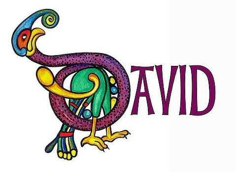 Celtic Name David by Frances Gillotti