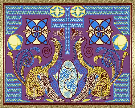 Celtic Twin Birds by Mike Sexton