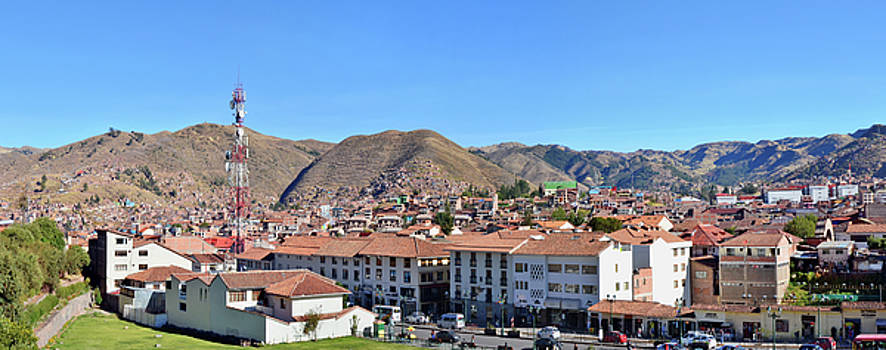 center of historical Cusco city by Aleksandr Volkov