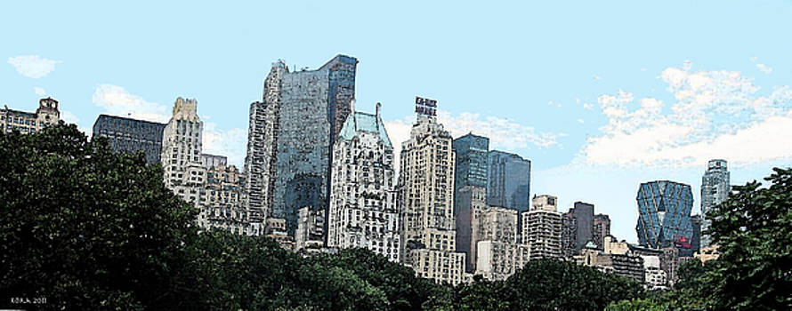 Central Park South Skyline by Rora