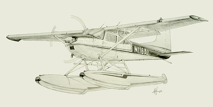 Cessna 180H on Floats by Nicholas Linehan