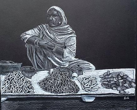 Chalk Seller by Ekta Gupta