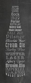 Chalkboard Typographic Beer by Heather Lee