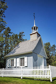 Chapel with picket fence by Jane Rix
