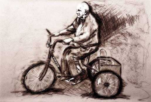 Charcoal Drawing of Pedal to the Metal by Ayasha Loya by Ayasha Loya