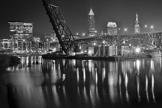 Frozen in Time Fine Art Photography - Charcoal Night on the River