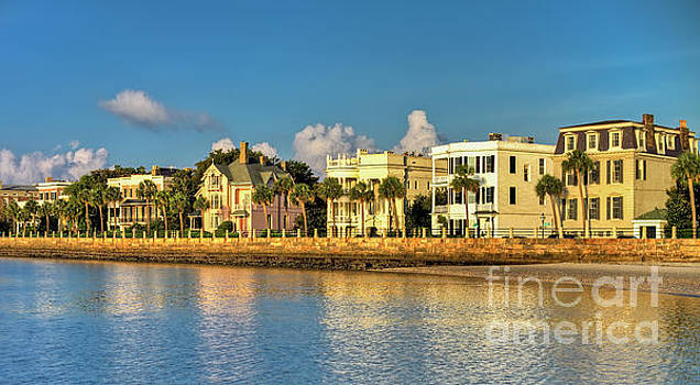 Charleston Battery Row of Homes  by Dustin K Ryan