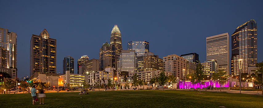 Charlotte Skyline at Night by Donnie Bagwell