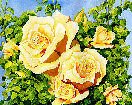 Charlotte's Garden - Yellow Roses by Janis Grau