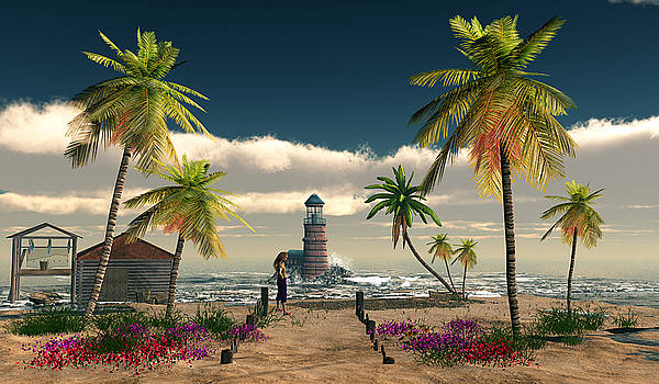 Charming Palm Tree   Cove by John Junek