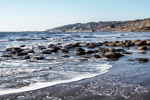 Charmouth Seascape - January by Susie Peek