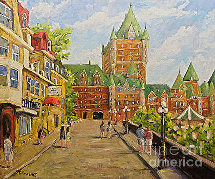 Chateau Frontenac Promenade Quebec City by Prankearts by Richard T Pranke