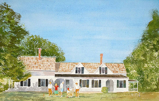 Chatham House Croquet Players by Harding Bush