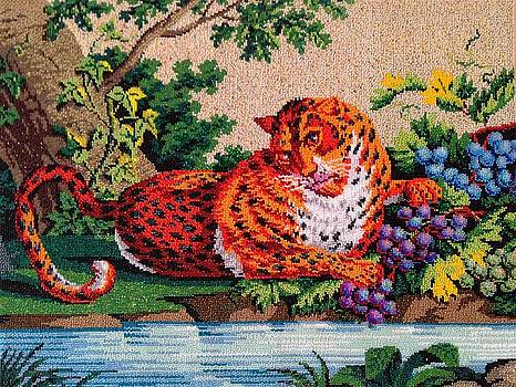 Cheetah in the jungle  Nowotny Collection 19th Century by Elena Soldatkina