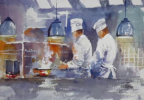 Chefs In Kitchen  by Faruk Koksal