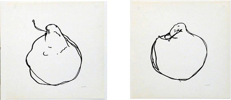 CHelsea Pair  diptych by Linda DiGusta