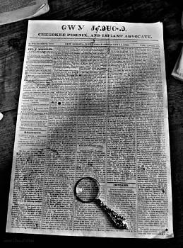 Cherokee Newspaper by Tara Potts