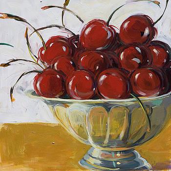 Cherries by Marianne  Gargour