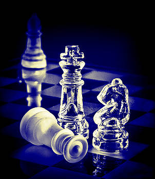 Chess in Blue by Vicki McLead