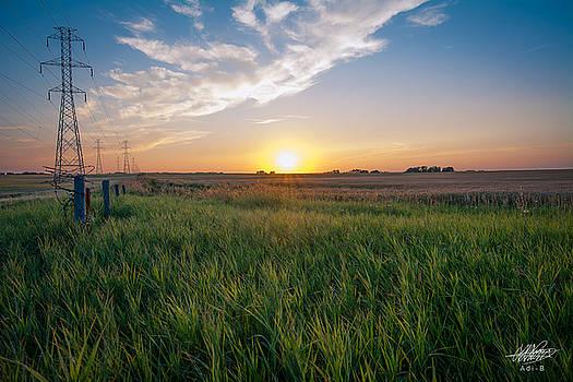 Chestermere Sunset by Adnan Bhatti