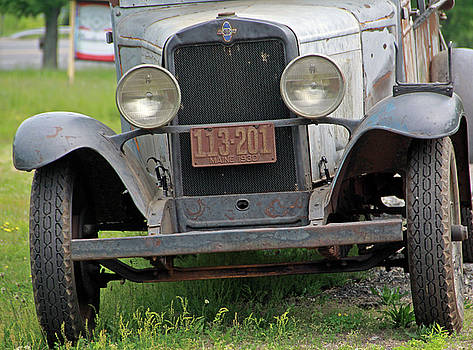 Chevy Huckster 1930 Grill by Gerald Mitchell