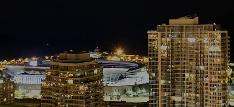 Chicago At Night by Carolyn Ricks