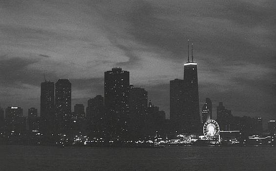 Chicago at Night by Dan McCafferty