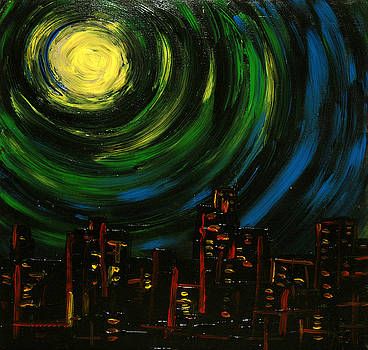 Chicago at Night by Erik Tanghe