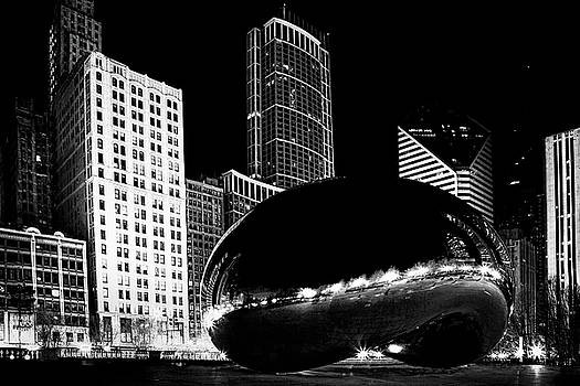 Chicago Bean at Night by Andrew Soundarajan